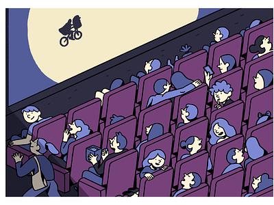 Sunday at The Cinema movie weekend sunday cinema illustrator illustration graphic editorial art design art