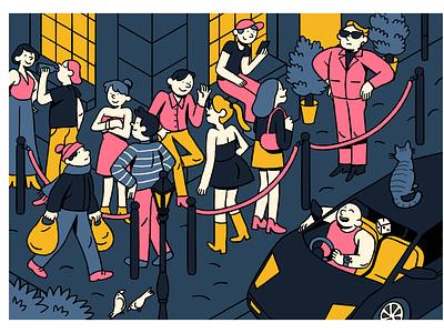 Nightclub camille ferrari colors alcohol party weekend club nightclub illustrator illustration graphic editorial art design art