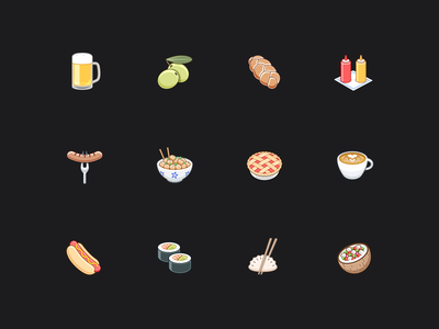 Zero icons - 1 food iphone banking fintech app ios emoji icons zero