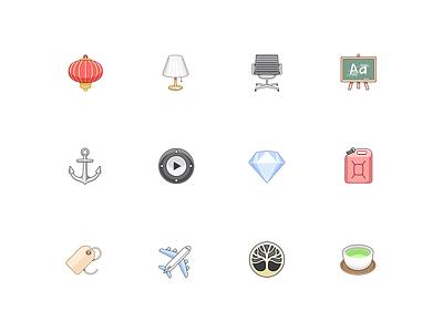 Zero icons - 4 app iphone banking fintech ios emoji icons zero