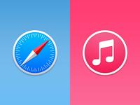 Safari & iTunes - Yosemite