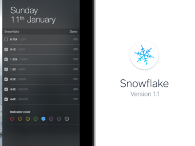 Snowflake just got more awesome! app yosemite osx mac android ios widget converter density pixel snowflake
