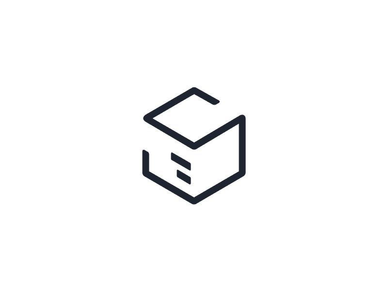 Stuart Logo package box simple service delivery logo stuart