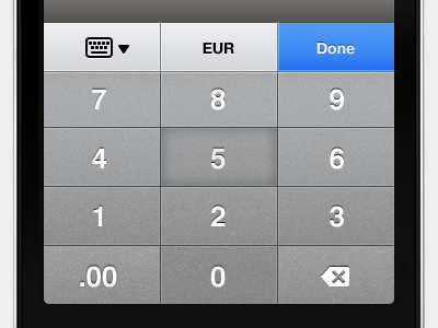 Numeric keyboard keyboard iphone ios app numeric keyboard ui gui interface