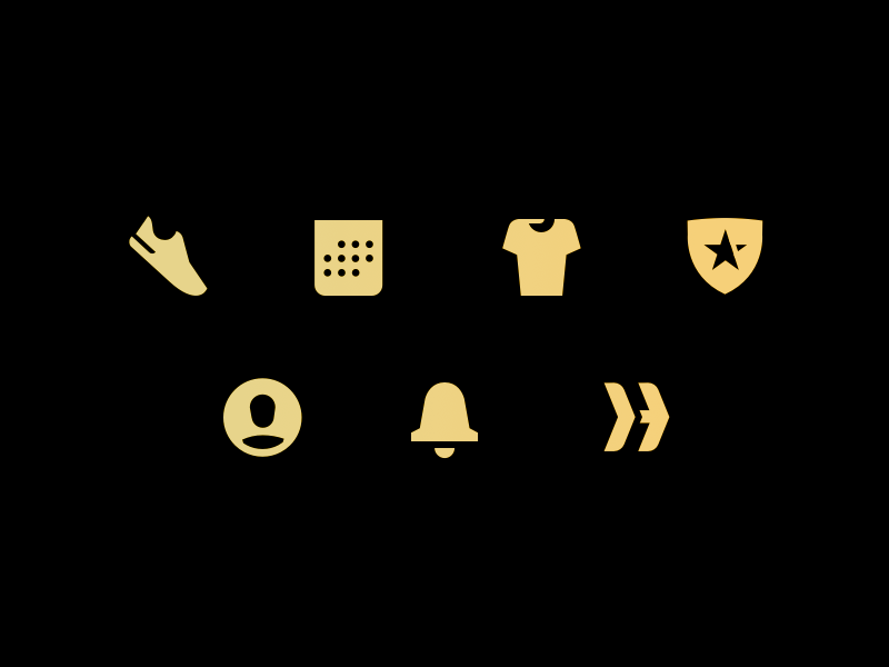 ClassHeroes Icons ios app pictograms branding nyc fitness icons heroes class