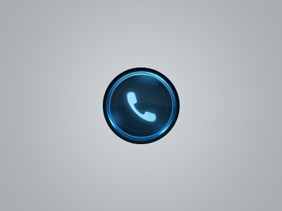Call call button blue neon glow ring