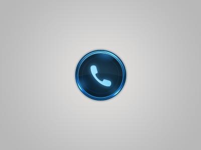 Call 2 call circle button blue glow