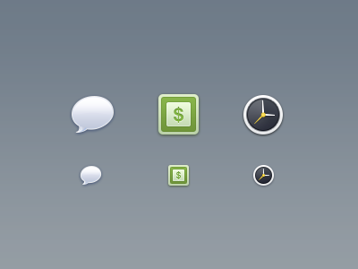 Mobile icons icons mobile ios iphone apple retina chat bubble money clock history