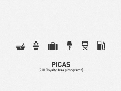 PICAS icons released picas icons pictograms rok benedik vector illustrator black grey iphone ipad