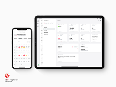 Pathfinder award design dots red medical ipad app desktop web iphone ipad user interface pathfinder