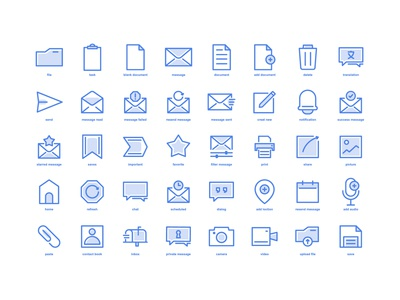 icon design for messaging applications
