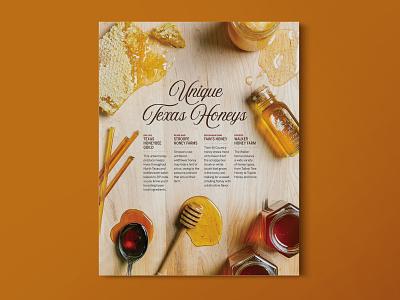 Texas Honey Layout publication layout food styling art direction
