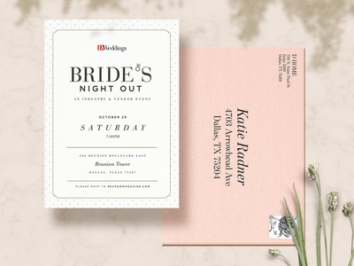 Bride's Night Out event branding invite