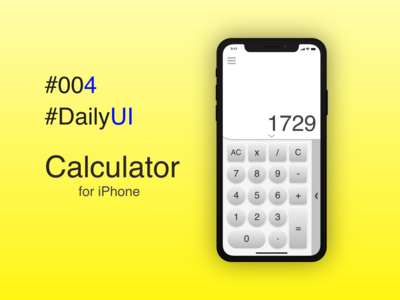 Calculator - #004 of #DailyUI