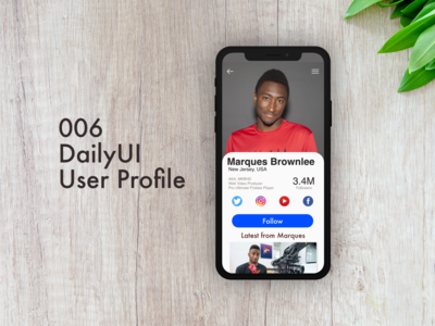 User Profile - #006 of DailyUI