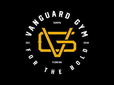 Vanguard Gym tampa florida gym branding monogram logo