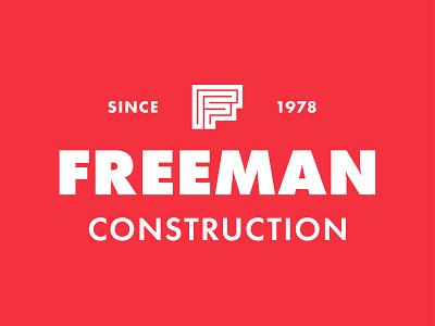 Freeman Constructioon construction logo construction f mark f logo branding logo design logo
