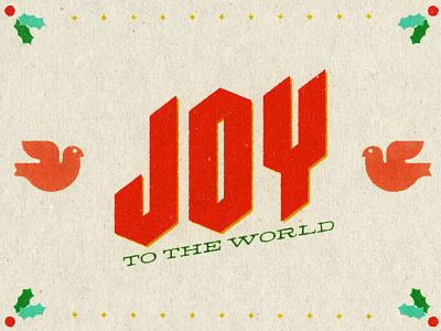 JOY vintage series church christmas retro