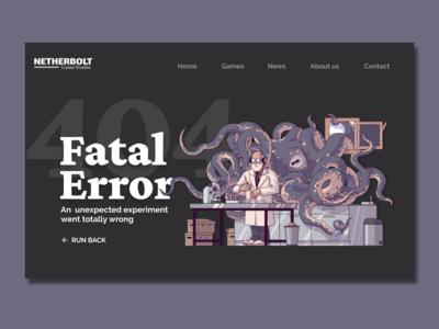 Game Studio - 404 Page