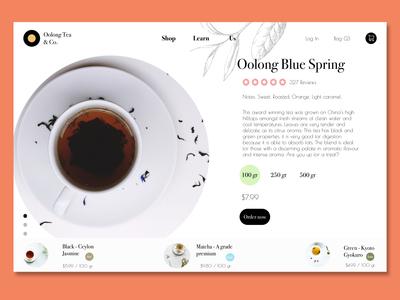 Oolong Tea - Ecommerce Website