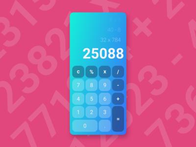 UI Challenge  #004  - Calculator