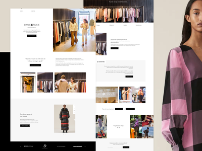 Dame de Pique - Women's Fashion & Clothing 👗 photography website brown minimal webdesign website clothing fashion