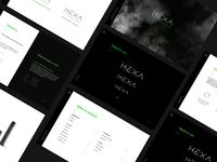HEXA - Branding & Redesign ✳️ (1/2) product photography styleguide branding guidelines branding identity guidelines design vaping vape branding