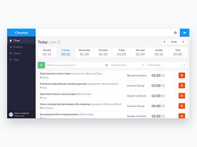 Timer platform web app tracking freelance dashboard admin app timer
