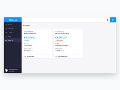 Invoices invoices app admin dashboard freelance web app platform