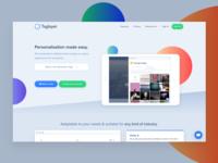 Taglayer Website Redesign - First Iteration