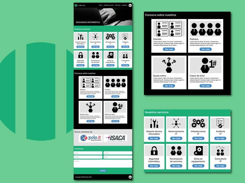 Rediseño web / Web redesign icon logo ui ux website design webpage web design redesign webdesign web adobe illustrator argentina