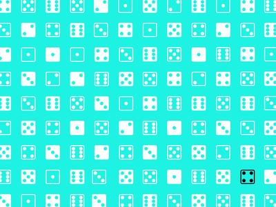 Dados con fondo celeste/ Dice with light blue background