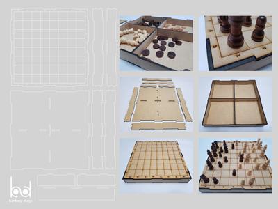 Ajedrez corte laser /Chess Laser cut