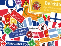 (3/3) Stickers para libro / Stickers for book