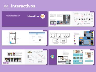 (1/4) Sección interactivos/ Interactives section