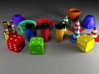 Render 3DS Max objetos varios / Varios objects