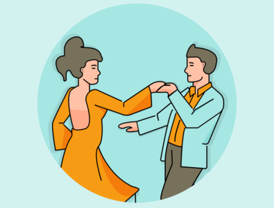 Dancing Illustration