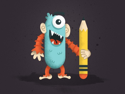 Monster illustration monster illustration design pencil vector colors cartoon