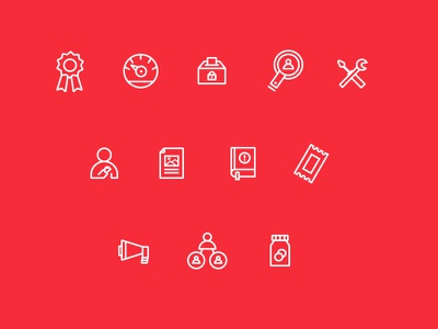 Sidebar icons flat icon illustration ribbon search settings file ticket user donate vote dashboard
