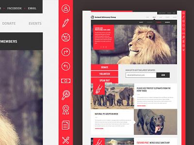 Verve Theme app ui ux design theme template web design flat gui clean icons website