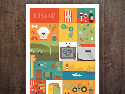 Christmas Poster poster print type illustration flat wine popcorn dogs tools garden shop boat
