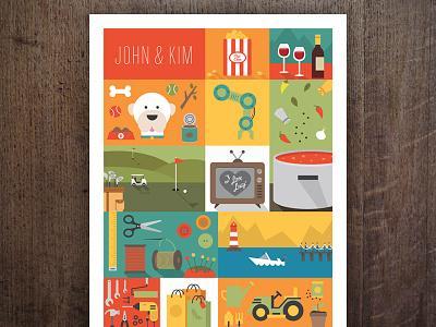 Christmas Poster poster print type illustration flat wine popcorn dogs tools garden shop boat