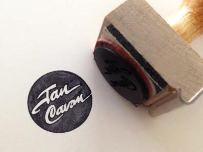 Jan Cavan Stamp stamp logo branding badge paper font wood typography lettering vector icon print
