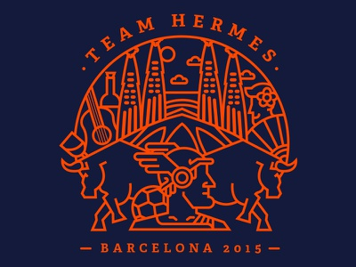Automattic's Team Hermes hermes shirt bull barcelona spain guitar wine clouds flamenco tee soccer type