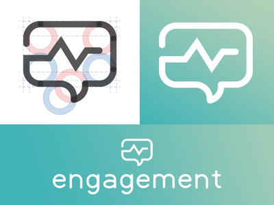 Engagement Logo engage pulse bubble speech illustration icon mark symbol brand identity logo design