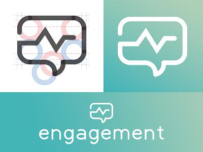 Engagement Logo engage pulse bubble speech illustration icon mark symbol brand identity logo design