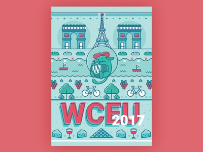 Wapuu WordCamp Europe 2017 river cheese grapes bicycle tower eiffel louvre france paris wceu wapuu