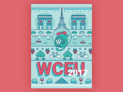 Wapuu WordCamp Europe 2017 river cheese grapes bicycle tower eiffel louvre france paris wceu wapuu
