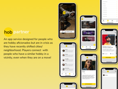 HobPartner Design user experience hobbies visual design userinterface