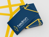 Hedron logo and business card design